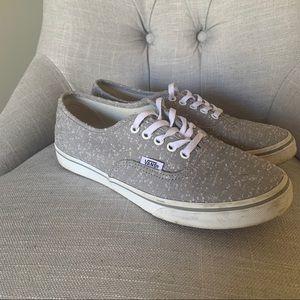 Vans women's gray shoes
